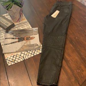 NWT Sanctuary Faux leather moto pants